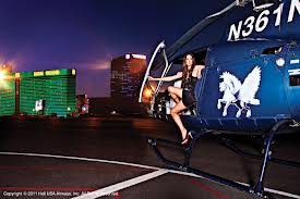 Las Vegas Night Strip By Helicopter With Vip Transportation